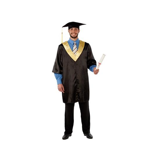 Afstudeer toga voor volwassenen. professor toga, one size. maat m/l. dit kostuum is inclusief doctoraal hoed....