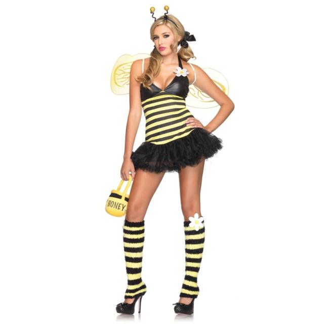 Sexy bijen kostuum voor dames. een sexy bij kostuum voor dames bestaande uit de petticoat jurk, haarband, ...