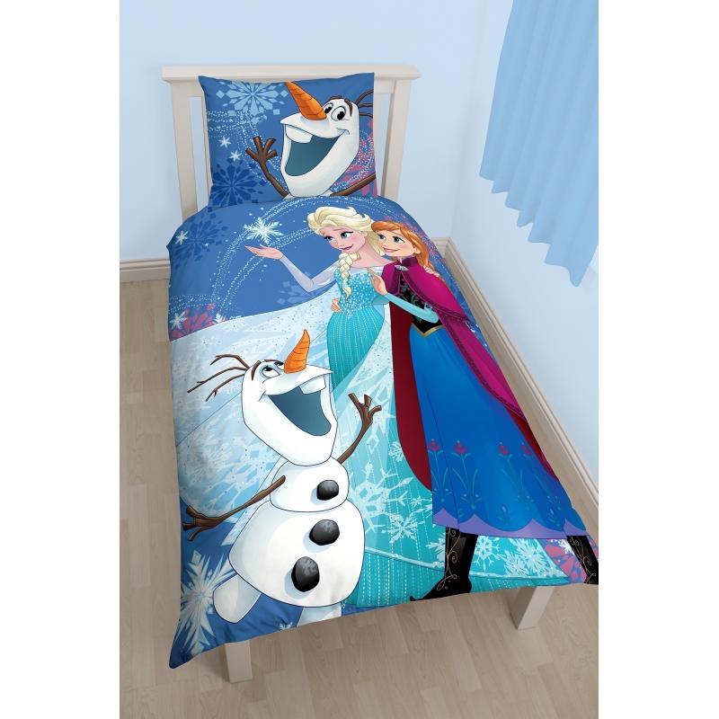 Dekbedovertrek Anna Elsa en Olaf 140 x 200 cm bestellen voor  u20ac 21 95 bij het Knuffelparadijs