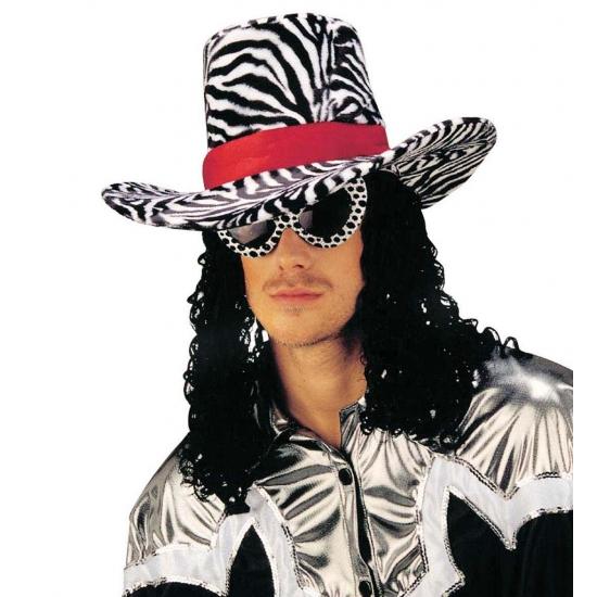 Funky Cowboy Hoed Met Zebra Print Knuffelparadijs kopen