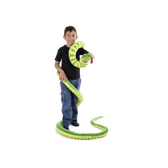 Groene slangen knuffels 4 meter