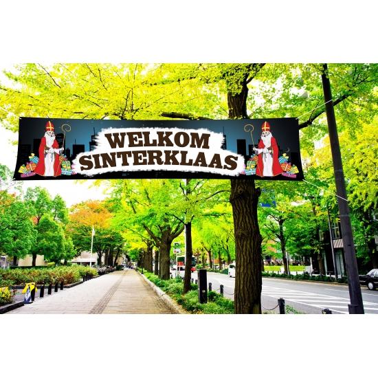Groot Sinterklaas spandoek 200 cm thumbnail