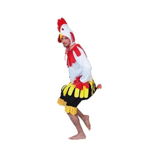 Haan kostuum voor volwassenen. hanenpak dat bestaat uit een jumpsuit met hanenmuts. materiaal: 100% polyester....