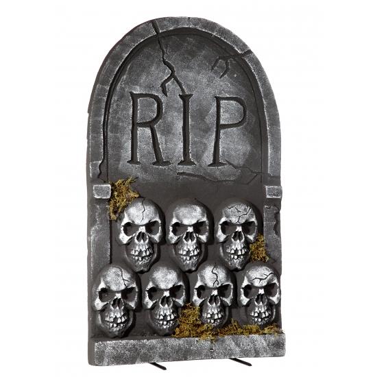 Halloween Grafsteen Rip Met Schedels 55 Cm Knuffelparadijs kopen