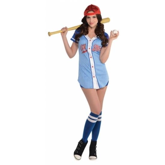 Honkbalspeler kostuum voor dames. honkbalspeler jurkje inclusief kousen en petje. exclusief overige ...