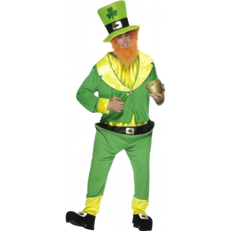 St. patricks day dwerg kostuum voor volwassenen. leuk groen dwergen kostuum, ideaal voor bijvoorbeeld st. ...