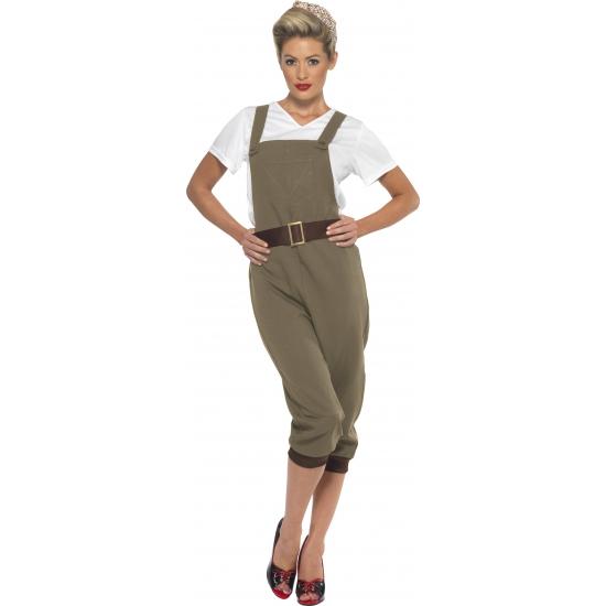 Jaren 40 landgirl kostuum. dit kostuum is inclusief: top, tuinpak en hoofdsjaaltje.