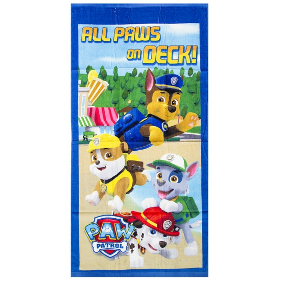 Kinder handdoek Paw Patrol all paws on deck thumbnail