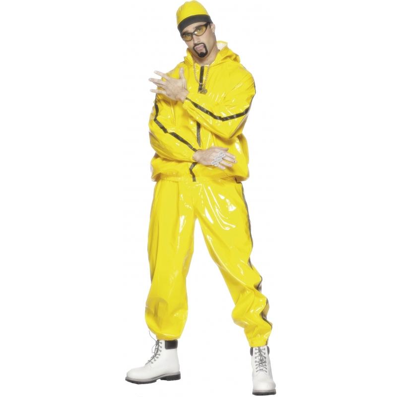 Mooi rappers kostuum ali g voor heren. het rappers kostuum ali g bestaat uit het gele trainingspak en de ali ...
