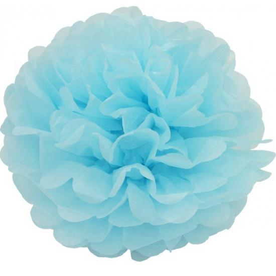 Lichtblauwe pompom versiering 25 cm bestellen voor bij het knuffelparadijs - Blauwe turquoise decoratie ...