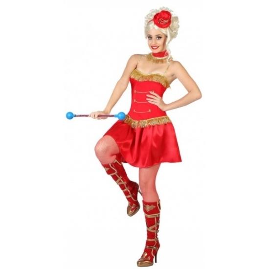 Majorette kostuum voor dames. 3 delig majorette kostuum voor dames dat bestaat uit het jurkje, een choker en ...