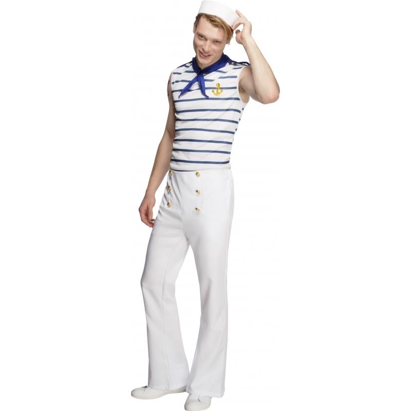 Matroos kostuum voor heren. matrozen kostuum in de franse stijl. het matroos kostuum voor heren bevat de top ...