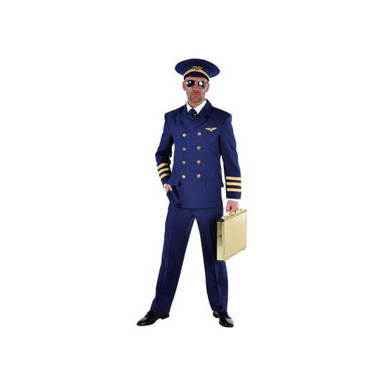 Luxe piloten kostuum vooor heren. het piloten kostuum bestaat uit de colbert en de broek. het kostuum is ...