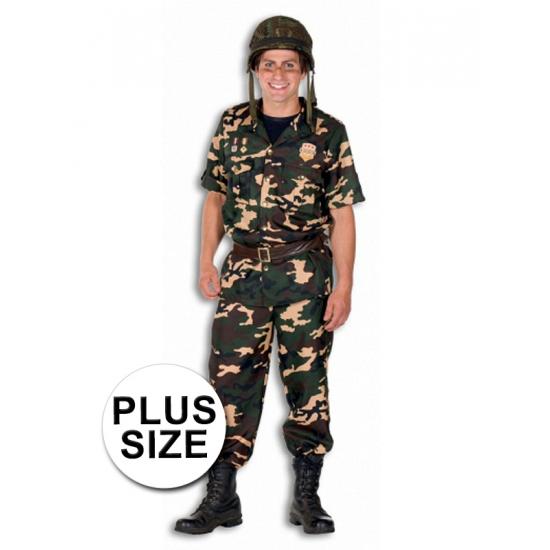 Soldaat kostuum grote maat voor heren. compleet soldaat kostuum voor heren inclusief jas, broek en riem. voor ...