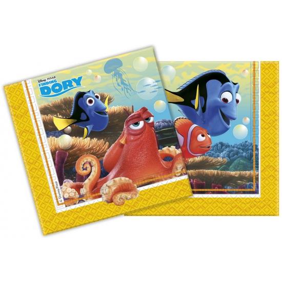 Finding dory servetten 20 stuks. deze papieren servetten met plaatjes van finding dory hebben een formaat van ...