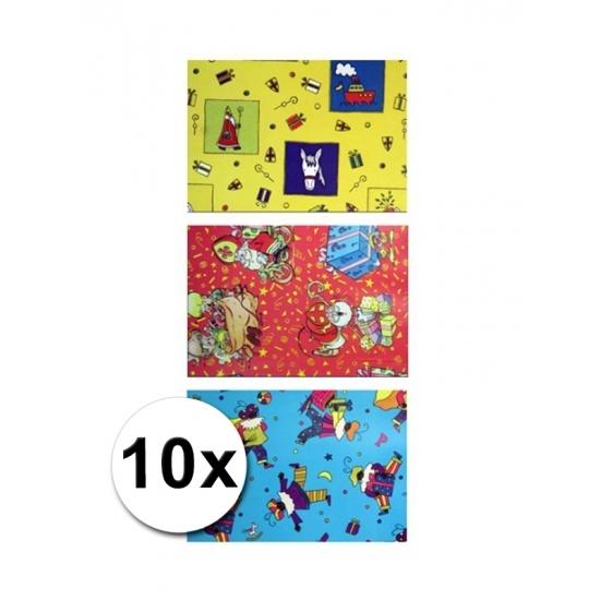 Sinterklaas folie inpakpapier 10 rollen thumbnail