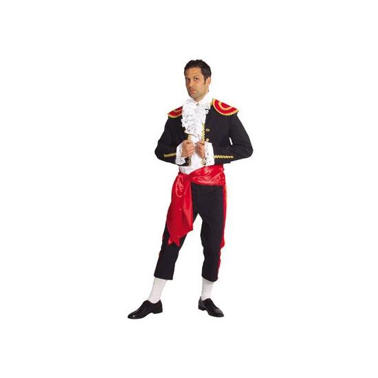Spaanse matador voor heren kostuum. luxe spaans heren kostuum bestaande uit een bolero, broek en sjerp. het ...