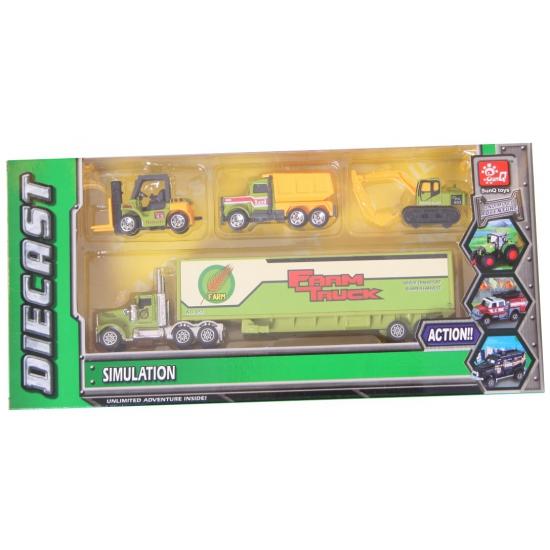183674713Speelgoed boerderij trucks set