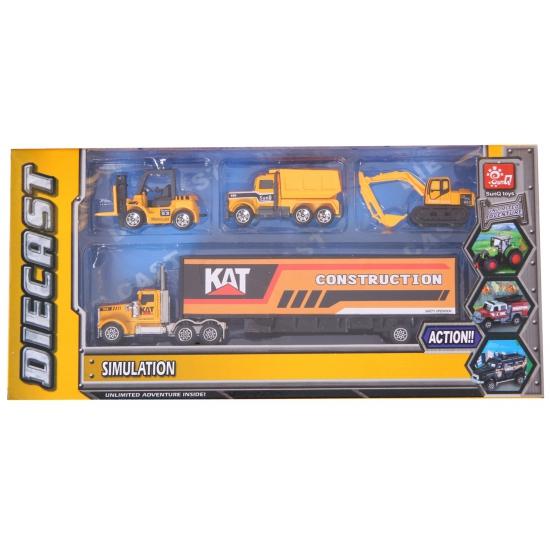 183674731Speelgoed bouw trucks set
