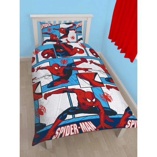 Spiderman dekbedovertrek jongens 135 x 200 cm bestellen voor  u20ac 21 95 bij het Knuffelparadijs