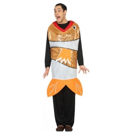 Goudvis kostuum voor heren. grappige goudvis overall die over de kleding gedragen kan worden. materiaal: 100% ...