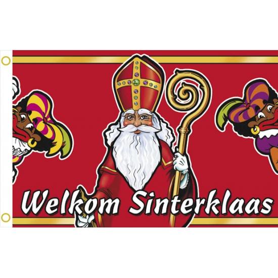 Welkom Sinterklaas gevelvlag thumbnail