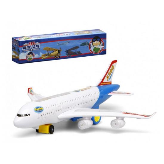Wit Speelgoed Vliegtuig Met Licht En Geluid Knuffelparadijs kopen