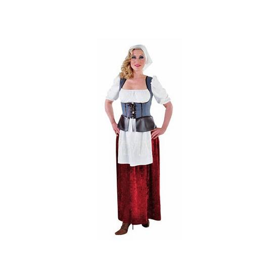 Middeleeuwse boerin kostuum voor dames. boerinnen kostuum in middeleeuwse stijl bestaande uit een ...