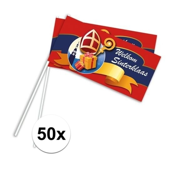 Zwaaivlaggetjes Sinterklaas 50x thumbnail