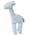 Giraffe blauw knuffel kraamcadeau 19 cm