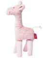 Giraffe roze knuffel kraamcadeau 19 cm