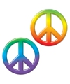 Hippie thema decoratie peace