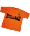 Holland tekst t-shirt oranje met patch