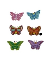 Houten decoratie vlinder bruin