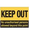 Metalen platen Keep Out