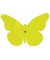 Muurdecoratie vlinder groen 25 cm