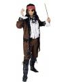Piraten verkleed jas bruin