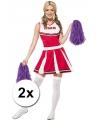 Verkleed cheerballs paars 2x