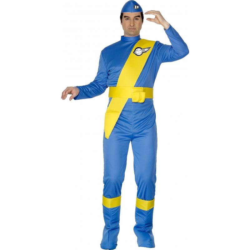 Thunderbirds kostuum virgil voor volwassenen. thunderbirds kostuum bestaande uit de jumpsuit, schoenhoezen en ...