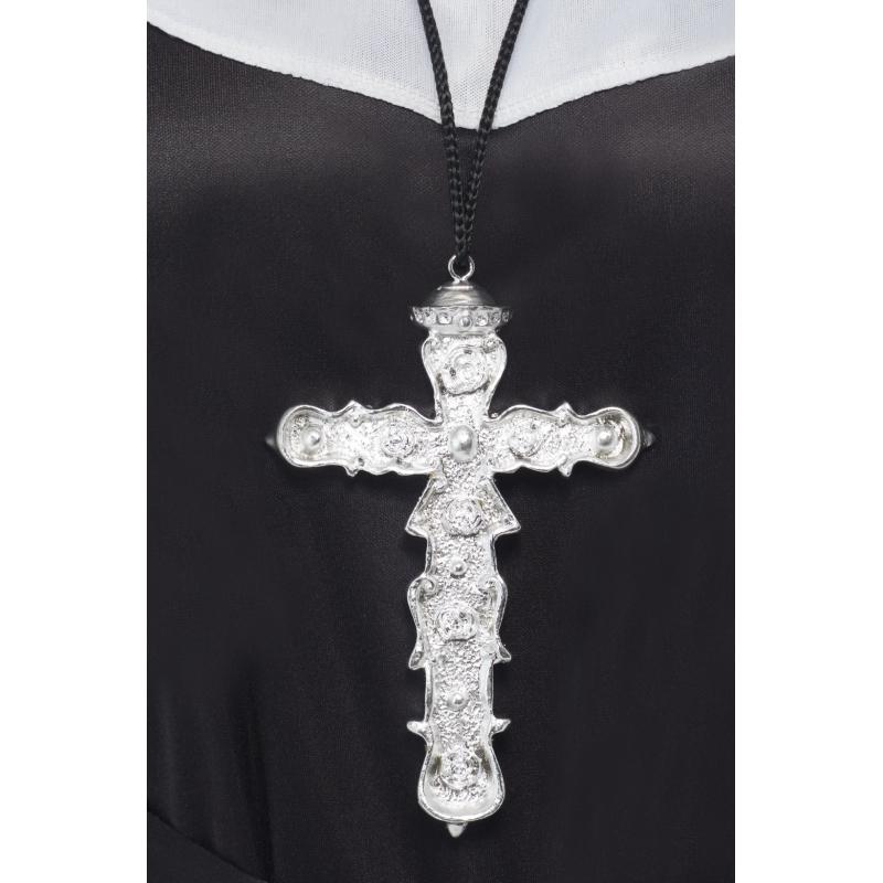 groot zilveren kruis hanger