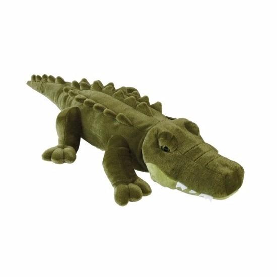 Pluche liggende krokodillen knuffel 80 cm