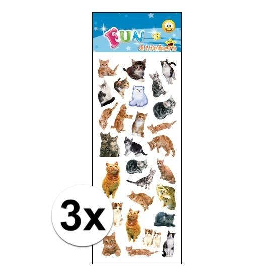 3x stickervel katten. een stickervel vol met leuke stickers van katten. u ontvangt 3 stickervellen met ...