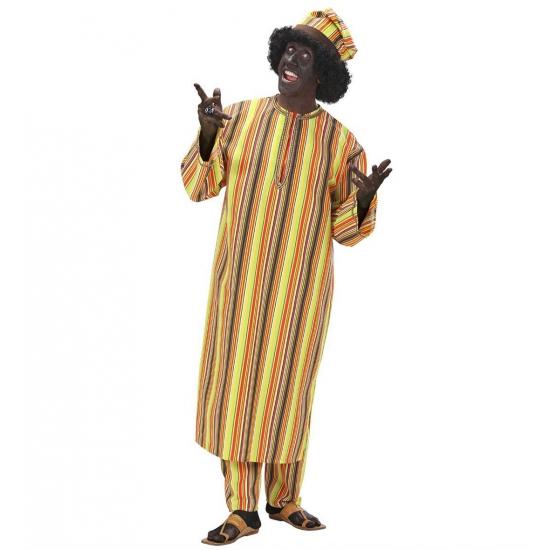 Afrikaans heren kostuum. dit afrikaanse heren kostuum bestaat uit een lang tuniek, een broek en een muts. zie ...