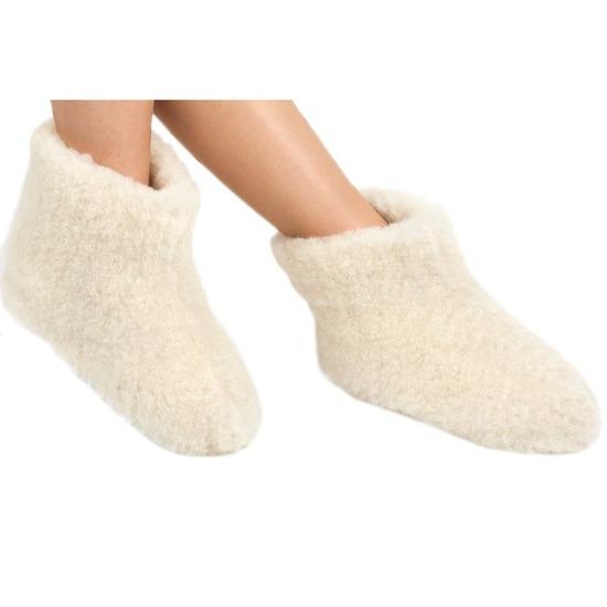 c31ed46ae4a159 Witte wollen sloffen/pantoffels voor dames/heren bestellen voor ...