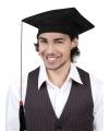Zwarte geslaagd hoedjes 1x