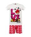 Angry Birds korte pyjama kinderen wit