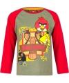 Angry Birds t-shirt groen/rood voor jongens