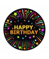 Viltjes met happy birthday opdruk