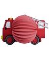 Brandweerauto lampion rood 20 cm