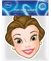 Kartonnen maskertje van Belle